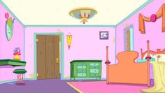 From Pendleton Ward's Adventure Time. The episode's background designers were Ghostshrimp and Santino Lascano. The painters were Martin Ansolabehere, Sandra Calleros, and Ron Russell.