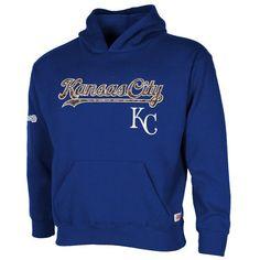 Kansas City Royals Stitches Boy's Camo Pullover Hoodie - Royal Blue - $37.99
