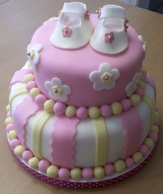Baby shower girl cake — Baby Shower