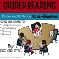 This pack is full of ideas to help you plan for your guided reading mini-lessons for kindergarten and first grade. These lessons are perfect for your small group, but many can be used in whole group! This goes great with the Common Core State Standards and goes with ANY book (informational and narrative).