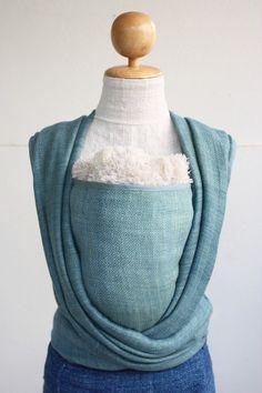 BaBy SaBye hand-woven wrap cotton/hemp 30% NATURAL COLORS Blue Spruce