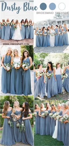 Dusty blue wedding color ideas dusty blue bridesmaid dresses weddings wedding blueweddings weddingcolors weddingideas dustyblue beautiful dresses bridesmaid 29 classic blue wedding decorations in different styles Slate Blue Bridesmaid Dresses, Blue Bridesmaids, Wedding Bridesmaid Dresses, Wedding Gowns, Bridal Gown, Bridesmaid Dresses Different Colors, Bridesmaid Colours, Bridesmaid Dresses Online, Bridesmaid Ideas