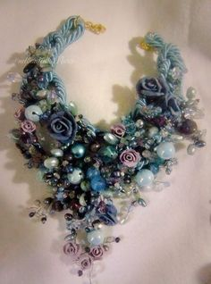 necklace ,rose,pasta di mais,cristallo,swaroski