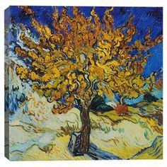 Add gallery-worthy appeal to your walls with this canvas print of Vincent van Gogh's Mulberry Tree. Display it alone as an artful focal point or group it with similar styles for an eye-catching vignette.   Product: Wall artConstruction Material: Cotton canvas and woodFeatures: Ready to hang