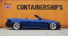 Fantastic blue BMW e36 cabrio on BBS for Kerscher wheels