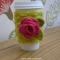Coffee cup cosy.