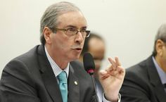 O presidente da Câmara, deputado Eduardo Cunha (PMDB-RJ), durante depoimento à CPI da Petrobras