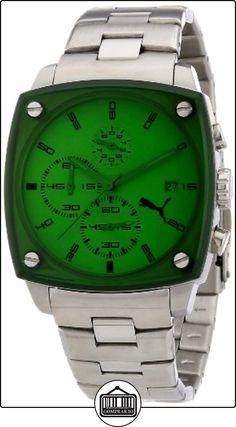 Puma Shade A.PU102591004 - Reloj analógico de cuarzo unisex, correa de plástico color plateado (cronómetro) de  ✿ Relojes para hombre - (Gama media/alta) ✿
