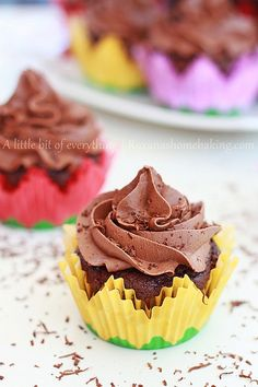 Chocolate Cupcakes with Chocolate Frosting by RoxanaGreenGirl | Roxana's Home Baking