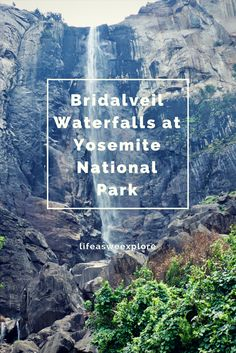 Hike to beautiful Bridalveil waterfalls at Yosemite National Park California