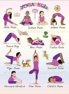 Yoga poses offer numerous benefits to anyone who performs them. There are basic yoga poses and more advanced yoga poses. Here are four advanced yoga poses to get you moving. Poses Yoga Enfants, Kids Yoga Poses, Yoga For Kids, Exercise For Kids, Kids Workout, Stretches For Kids, Ayurveda, Yoga Fitness, Yoga Position
