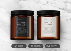 Take your candle products to the next level with these vintage Apothecary Style editable candle label designs. No need for photoshop, simply follow the instructions and edit using the provided link. These vintage style apothecary candle labels are the perfect way to get that chic look! Candle Branding, Candle Packaging, Business Branding, Printable Labels, Printables, Cork, Diy Candle Labels, Microsoft, Apothecary Candles