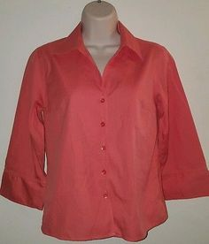 Women's Talbots petites button down size 2 coral career