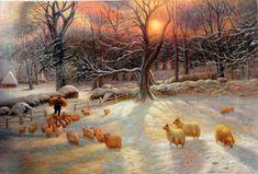 Joseph Farquharson Oil Painting Repro The Shortening Winter's Day ...1903