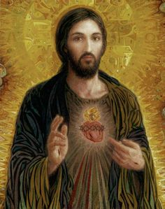 Sacred Heart cb Painting - Sacred Heart cb Fine Art Print - Smith Catholic Art