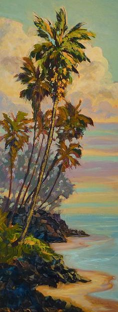Dan Young impressionistic Hawaii landscapes