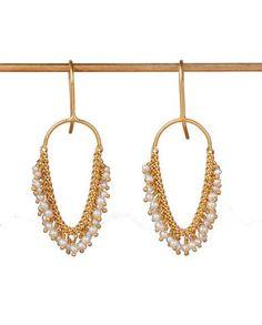 #Valentine's Wishlist <3 #BritishDesign : Pearl & Gold Vermeil Loop #Earrings