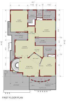 8 Marla House Plan 29 Beautiful E Kanal House Plan 3d House Plans, House Plans Mansion, Indian House Plans, Model House Plan, House Layout Plans, Dream House Plans, House Layouts, School Floor Plan, 20x40 House Plans