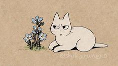 Wallpaper Iphone Cute, Cute Wallpapers, Cat Icon, Iphone App Design, Cool Sketches, Cute Animal Drawings, Aesthetic Images, Cat Drawing, Cat Art
