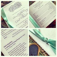 Catholic Wedding Ceremony Programs www.tiethatbindsweddings.com