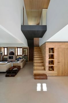 Top Unique Modern Staircase Design Ideas for Your Dream House - hdintex Home Stairs Design, Modern House Design, Home Interior Design, Interior Architecture, Room Interior, Staircase Design Modern, Stair Design, 1920s House, House Stairs