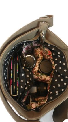 DSLR Camera Bag Purse Camera Bag DSLR Bag by Shutterbags. oh the lining.