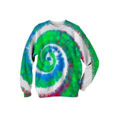 : Tie Dye Flow : Sweatshirt from Print All Over Me  /  #printalloverme #fantasymall #onlinemall   #fantasygifts #fantasyshopping #CorianderShea #hippie