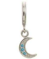 Endless Sterling Silver Sky Blue Moon Shine Drop Charm