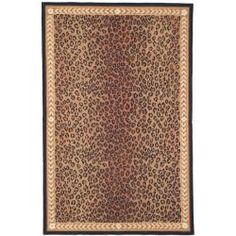 @Overstock - There is nothing like this modern hand-hooked wool rug. With its leopard-print design in shades of brown and taupe bordered in black and ivory, this fantastic all-wool rug is thick and soft with a cotton canvas backing for extra life.http://www.overstock.com/Home-Garden/Hand-hooked-Chelsea-Leopard-Brown-Wool-Rug-53-x-83/6962106/product.html?CID=214117 $186.99