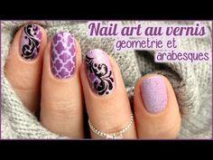 Bonjour, nouvelle vidéo nail art tout au vernis avec un fond géométrique réalisé au dotting, de la texture et des arabesques. Nail art réalisé pour tester le...