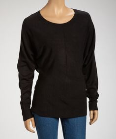 Take a look at this Black Dolman Sweater on zulily today!