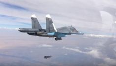 New Stunning Footage of the Russian Su-34 Fullback bombers attacking ground targets in Syria