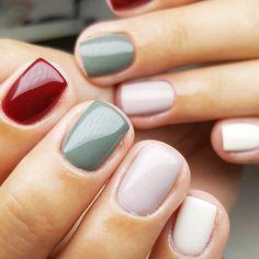 Dip Nail Colors, Nail Color Trends, Nail Polish Trends, Gel Polish, Latest Nail Designs, Colorful Nail Designs, Fall Nail Designs, Best Acrylic Nails, Gel Nail Art