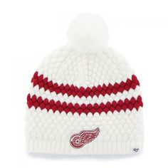 2e7cab45e 47 Brand Detroit Red Wings Women s White Kendall Beanie