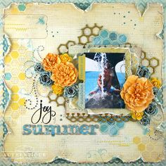 Summer Layout by Authentique Paper Guest Designer Natasha Aguirre