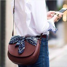 saddle bag and bandana, blouse--With love and light