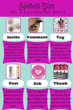 Younique Hostess Tips www.youniqueproducts.com/clairesbeautywonderland