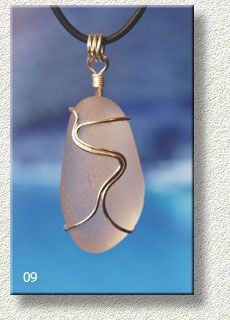 sea glass pendant by Tony Davies