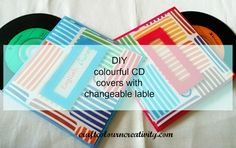 DIY - CD covers with changeable label Cd Diy, Cd Cover, Creativity, Label, Passion, Diy Crafts, Organization, Colour, Blog