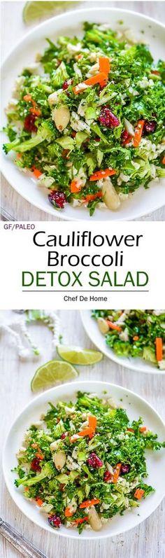 cauliflower broccoli detox salad - paleo, gluten free