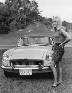 Girl and a MGB 1970