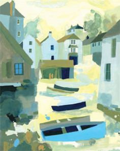 Art For All, art prints and originals - Cadgwith Boats by Richard Tuff Image Painting, Boat Painting, Seaside Art, Painter Artist, Landscape Artwork, Still Life Art, Halloween Pictures, Learn To Paint, Architecture Art