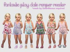 Fantastic Play Date Romper Recolor at Giulietta • Sims 4 Updates