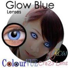 Crazy Contact Lenses | ... Crazy Contact Lenses Glow Blue, Glow-in-the-dark Contact Lenses