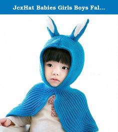JcxHat Babies Girls Boys Fall Winter Rabbits Ears Hat Scarf Scarf Shawl Cape Beanies Knit Hat Acrylic Watch Cap for Babies Toddlers and Kids. Unisex Hat fits for Baby boys and girls. It is a must-have item in cold winter. Babies, Toddlers and kids would love doing outdoor activities with this durable hat.