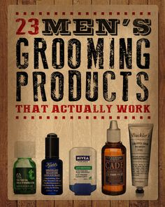 23 Men's Grooming Products That Actually Work. Good gift ideas for the men in your life!