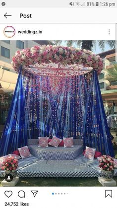 Top 10 Luxury Wedding Venues to Hold a 5 Star Wedding - Love It All Desi Wedding Decor, Wedding Hall Decorations, Luxury Wedding Decor, Marriage Decoration, Wedding Mandap, Wedding Table, Indian Wedding Receptions, Table Decorations, Mehndi Decor