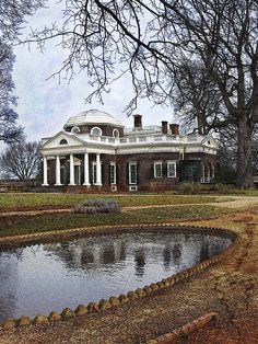 Monticello, Virginia - home of Thomas Jefferson The Fish Pond   www.christchurchschool.org
