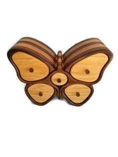 Butterfly / jewelry box / home decor / bandsaw box / by RoysBox