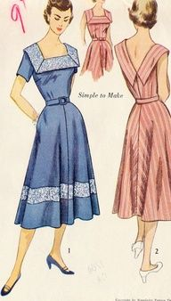 sundress patterns misses 1960's sheah | 1950s Vintage Sewing Patterns